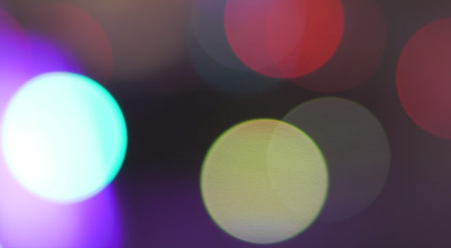 Purple bokeh lights
